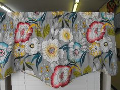 SALE Window Valance lined and corded gray by LaTeDaWindows on Etsy
