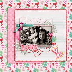 Digital layout using Stuck On You by Amber Shaw at Sweet Shoppe Designs