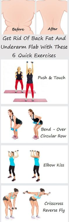 Try The 6 World's Easiest Exercises For Back Fat And Underarm Flab (VIDEO)