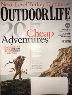 OUTDOOR LIFE MAGAZINE May 2017 20 Cheap Adventures TURKEY KAYAKS BOATING  | eBay
