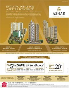 Check out our ad in @MaharashtraTimes Pay 5% & opt for Flexi Plans Save Up to 8 Lacs* Or Book By Paying 20% & Rest On Fit-Outs www.ashar.in #MaharashtraTimes #Advertisement #News #Offer #Scheme #RealEstate