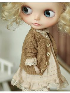 Miss yo 2017 Autumn Knitted Vintage Cardigan for Blythe doll
