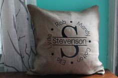 Home Decor Pillow Cover, Family Tree 18 by 18 by ArrowTreeDesigns on Etsy