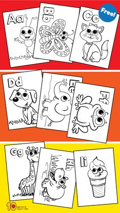 free abc coloring pages to print #freeabc