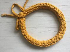 #crochet #handmade #tshirtyarn #jewelry #kababihandmade T Shirt Yarn, Crochet Necklace, Bracelets, Handmade, Jewelry, Hand Made, Jewlery, Jewerly, Schmuck