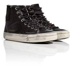 GOLDEN GOOSE Leather/Denim High-Top-Sneakers