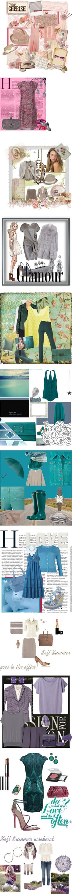 Soft Summer personal coloring, vol. I by in-vero-pulcritudo on Polyvore featuring ...Lost, Disney Couture, Nordstrom, Juicy Couture, Pixie, Anna Sui, H&M, Forever 21, Oasis and Sisley Paris