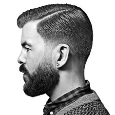 Taper fade with a beard by Reuzel Pomade