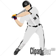 CLIPART BASEBALL PLAYER