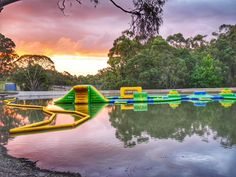 Glamping Hub Big4 Yarra Valley Parky's Water Park sunset