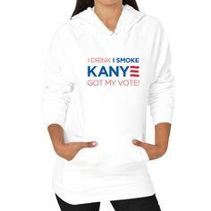 Hoodie (on woman) White - Kanye2020