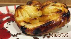 Palmeritas SIN GLUTEN.Talleres gastronomic os de Celiciosos. Solas, con chocolate, o con almibar, ricas ricas.