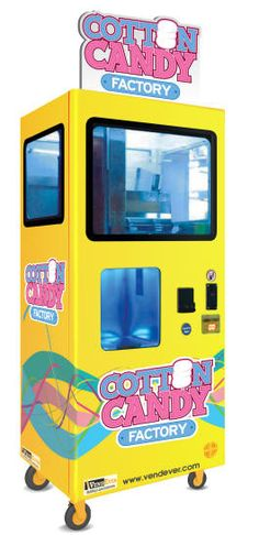Cotton Candy Factory - Cotton Candy Vending Machine From VendEver