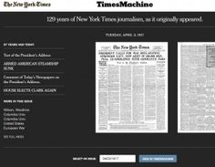"""Wow! The NY Times' """"Time Machine"""" Is One Wild """"This Day In History"""" Site"""