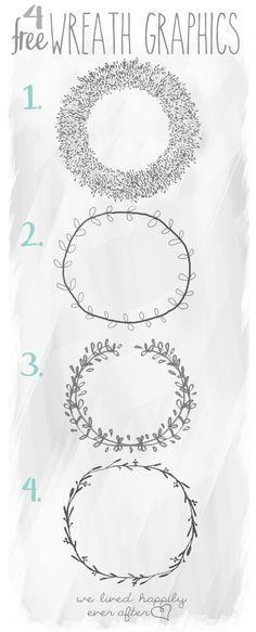4 Free Wreath Graphics