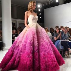 Christian Siriano pink ombre wedding dress! I am in absolute love!