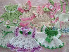 RESERVED Vintage Cotton Crochet Pot Holder Doll by DearestPearl