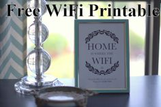 Free WiFi Password Printable   Happy Miser Blog Free Wifi Password, Wifi Password Printable, Internet Router, Life Organization, Organizing, Inviting Home, Florida Home, Humble Abode, Place Card Holders