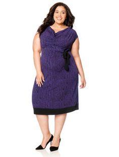 Destination Maternity Plus Size Sleeveless Tie Detail Maternity Dress