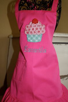 EllaLu Kids Apron by EllaLuBoutique on Etsy, $15.00. So cute for a cupcake party.