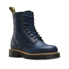 Dr Martens Pascal II Womens Leather 8-Eyelet Boots - Indigo