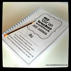 a muslim homeschool: Print at home your own Juz Amma workbook!