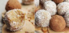 raw vegan cashew vanilla sweets (scroll down for English recipe) Raw Vegan Desserts, Raw Vegan Recipes, Gf Recipes, Vegan Cake, Dessert Recipes, Paleo, Yummy Snacks, Yummy Food, Vegan Christmas