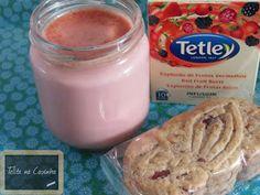 Telita na Cozinha: iogurtes de bolachas e chá de frutos vermelhos