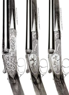 We definitely appreciate the work that went into these rifles from William & Son. Typical rifles from the London-based label take around Rifles, William And Son, Gun Art, Firearms, Shotguns, Double Barrel, Hunting Guns, Cool Guns, Guns And Ammo