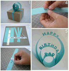 DIY Birthday Card for ur Dad or anyone...very creative...LOVE IT!!!! <3