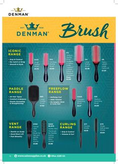Salon Supplies Denman Brush Guide 2019 shadow palette up brush cleaner up brushes up brushes guide up brushes set up highlighter up mirror up palette up products up room ideas up room studio up sponge Curly Hair Routine, Curly Hair Tips, Curly Hair Care, Curly Hair Styles, Natural Hair Regimen, Natural Hair Care Tips, Natural Hair Styles, Relaxed Hair Regimen, Make Up Glow