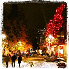 Whistler Village by night #whistler #village #christmas