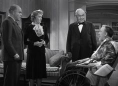 Grant Mitchell, Billie Burke, George Barbier and Monty Wolley - Movie Monday: The Man Who Came To Dinner - Grant Mitchell, Ruth Hussey, Orry Kelly, Billie Burke, Ann Sheridan, Glinda The Good Witch, Musical Film, Bette Davis, Silent Film