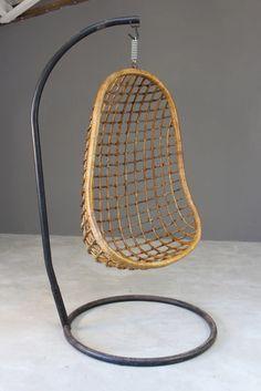 Retro Bamboo Hanging Chair