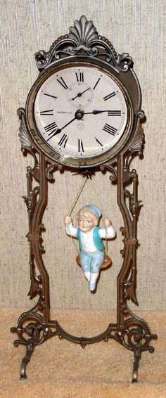 Vintage Stuff and Antique Designs Fancy Watches, Old Watches, Vintage Watches, Unusual Clocks, Cool Clocks, Tick Tock Clock, Mantel Clocks, Art Nouveau, Alarm Clock
