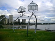 Engagement Rings in English Bay, Vancouver. Are you ready to receive or give a engagement ring to somebody? Come over here, Vancouver! Outdoor Sculpture, Sculpture Art, Sculptures, Vancouver, Stonehenge, Dennis Oppenheim, Canada Images, Scale Art, Giza