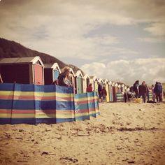 Devon beach, huts