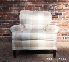 Robert Allen buffalo check fabric. Give that classic a refresh with new upholstery. We'll help you every step of the way.