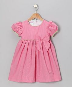 Take a look at this Powerhouse Pink Gingham Puff-Sleeve Dress - Infant & Toddler by SIMI on #zulily today!