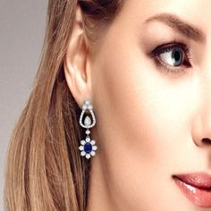 6556248046aa Diamond and sapphire earrings by ASCHERON. White Gold ...