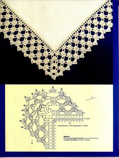 Photo from album Bordados Modernos Barradinhos 07 on Фото, автор ya. Crochet Diy, Filet Crochet, Crochet Simple, Crochet Chart, Hand Crochet, Crochet Edging Patterns, Crochet Lace Edging, Crochet Borders, Crochet Designs