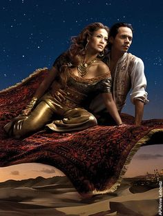 Jennifer Lopez and Marc Anthony as Aladdin and Jasmine