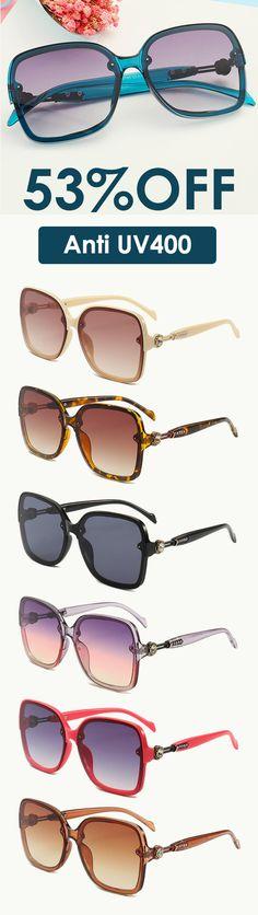 14fa5f7ae94 Women s Fashion Sunglasses Large-framed Anti UV400 Glasses. Banggood
