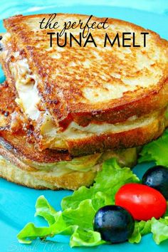 The perfect Tuna Melt is ooey-gooey and packed full of delicious flavor, and perfect for the nights when you just want to put something on the table super quick or for that lunch date with your friends. comfort food recipe The Perfect Tuna Melt Gourmet Sandwiches, Panini Sandwiches, Grilled Cheese Sandwiches, Dinner Sandwiches, Italian Sandwiches, Grilled Cheeses, Grilled Cheese Recipes, Healthy Sandwiches, Delicious Sandwiches