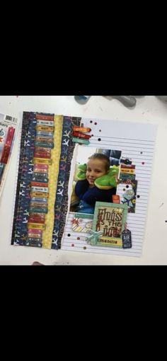 School Scrapbook Layouts, Scrapbooking, Baseball Cards, Scrapbooks, Memory Books, Scrapbook, Notebooks