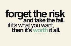 Olvídate del riesgo y adoptar la caída, si es lo que quieres, entonces vale la pena todo.