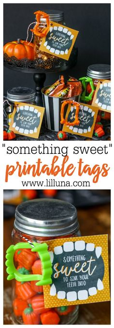 Halloween Treat Tags - Free Printable Free printable, Free and - cute halloween gift ideas