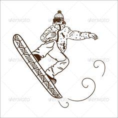 Snowboarding Jumping Man