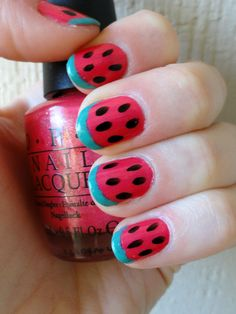Cute watermelon nails!
