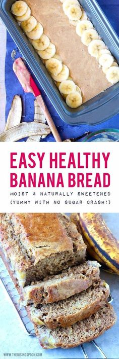 A healthy real food banana bread recipe made with…